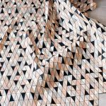 Textiles made of faceted wood tiles