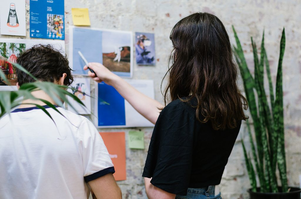 Working on the latest issue at Local Peoples' studio in Melbourne